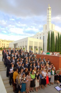 Missionaries singing on July 28