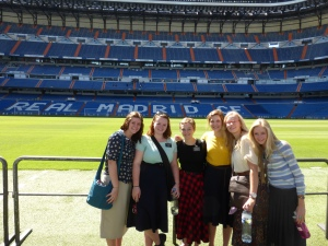 The sisters at Real Madrid Stadium