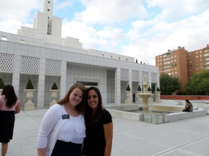 Hermana Durham with CCM teacher Hermana Garcia