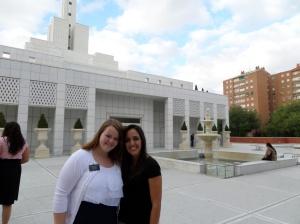 Hermana Durham with CCM teacher Hermana Garcia