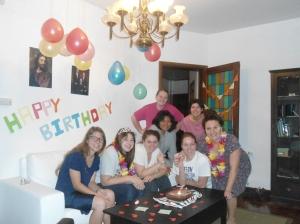 Celebrating Hermana Galvez's birthday.