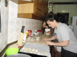 Making empanadas for Heidi because she always makes us food.